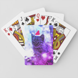 Kitten Christmas time Classic Playing Cards