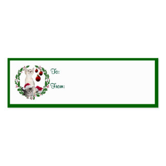 Kitten Christmas Wishes Gift Tags Business Card Template