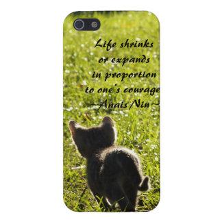 Kitten Courage iPhone 5 case