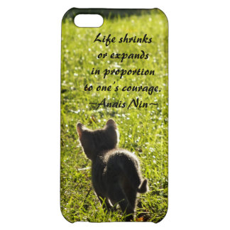 Kitten Courage iPhone 5c case