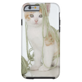 Kitten covered in yarn tough iPhone 6 case