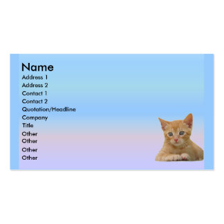 Kitten Dax Profile Card Business Cards