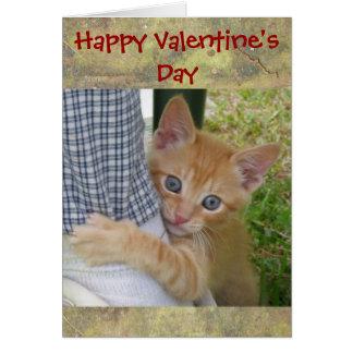 Kitten Dax Valentine Card