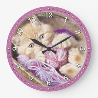 Kitten Decorative Wall Clock