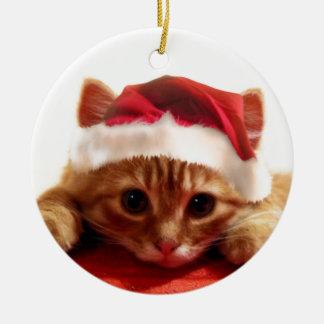 kitten design christmas ornament