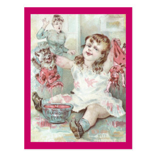 Kitten Dyed Pink by Girl Postcard