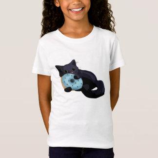 Kitten Eating Donut Kids Shirt