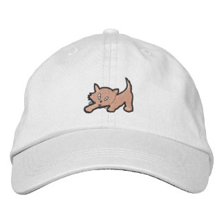 Kitten Embroidery Gift Embroidered Hats