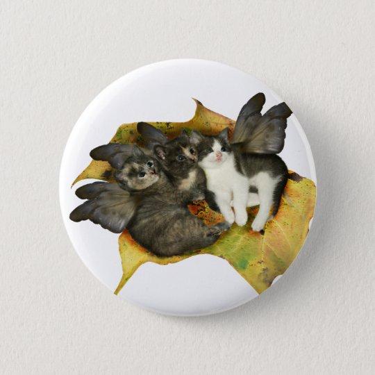 Kitten Fairies Button