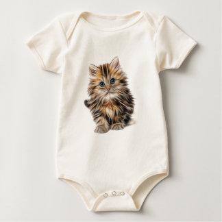 kitten fractal design range baby bodysuit