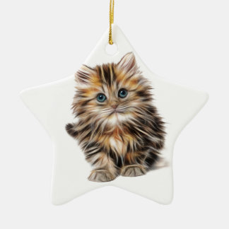 kitten fractal design range christmas ornament