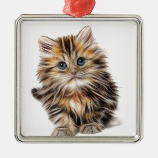 kitten fractal design range christmas ornament