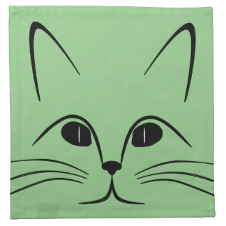 Kitten green napkin