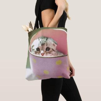 Kitten Hiding Tote Bag