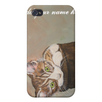 """Kitten in a Boot """"Fur Lining"""" iPhone 4/4S Cases"""