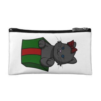 Kitten in a Box Cosmetic Bag