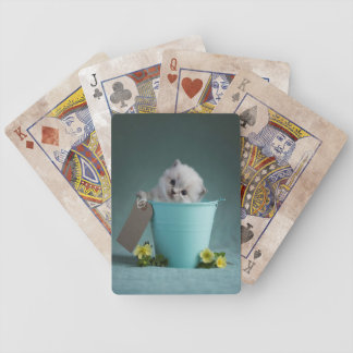 Kitten in a Bucket Bicycle Playing Cards