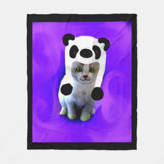 Kitten in a panda hat Blanket