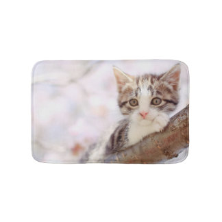 Kitten In A Tree Bath Mat