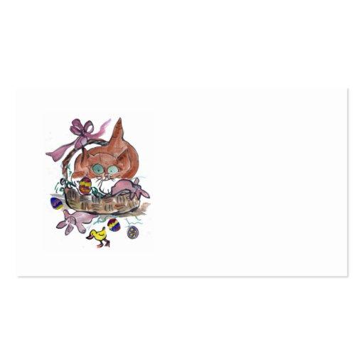 Kitten in an Easter Basket Business Card
