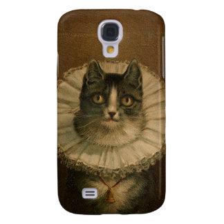 Kitten in an Elizabethan ruff Galaxy S4 Cases