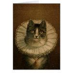 Kitten in an Elizabethan ruff Greeting Card