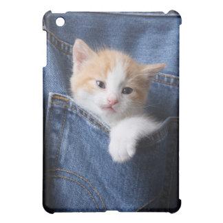 kitten in jeans bag iPad mini cover