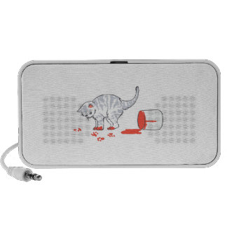 Kitten in paint notebook speakers