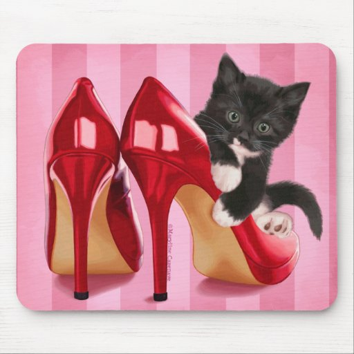 Kitten in Shoe Mouse Pad