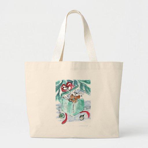 Kitten in Shredded Christmas Present Box Bags