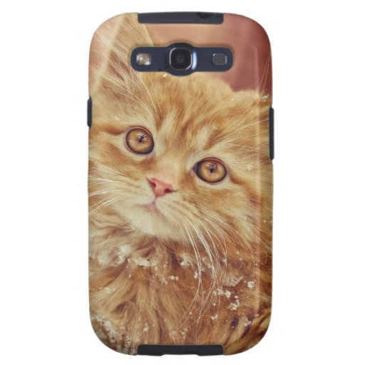 Kitten in Snow Galaxy SIII Cover