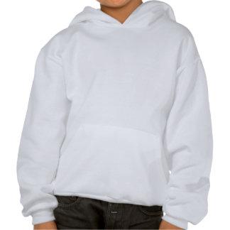Kitten in Snow Hooded Sweatshirts