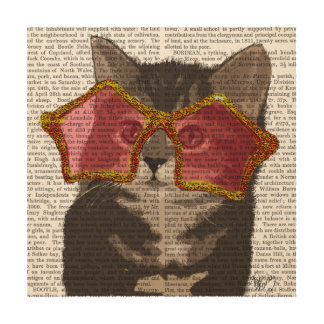 Kitten in Star Sunglasses Wood Wall Decor