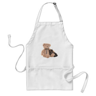 kitten in the arms off has teddy bear standard apron