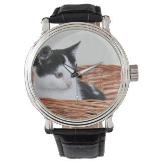 Kitten in the basket Watches