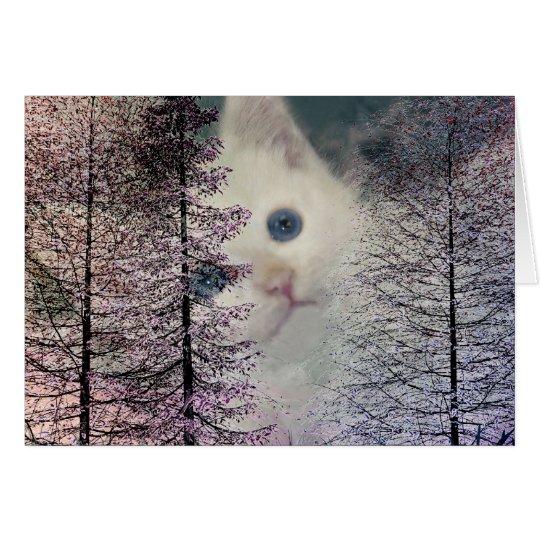 Kitten in Woods Card