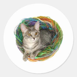 Kitten in Yarn Stickers