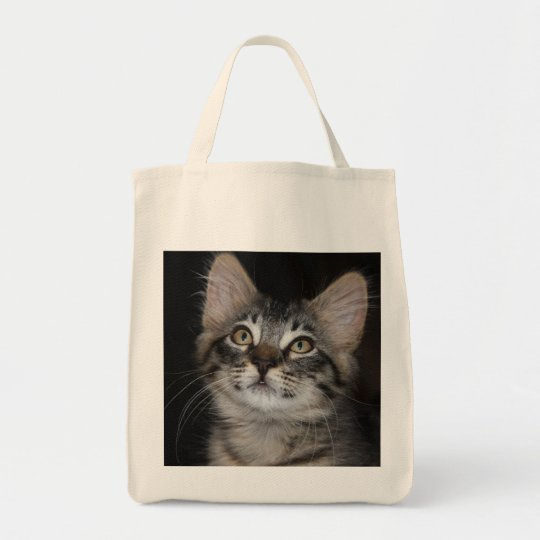 Kitten Innocence Organic Grocery Tote Bag