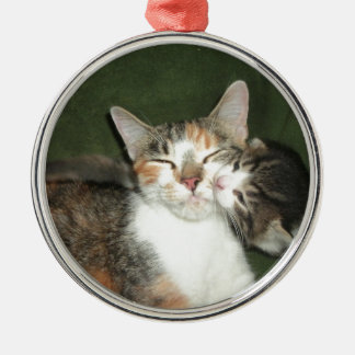 Kitten Kiss Christmas Ornament