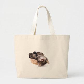 kitten large tote bag