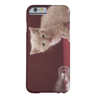 Kitten licking spilt milk from bottle barely there iPhone 6 case