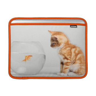 Kitten Looking At Fish In Bowl Sleeve For MacBook Air
