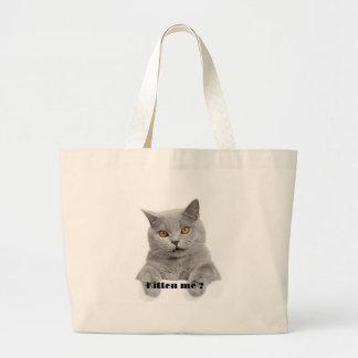 kitten me ? large tote bag