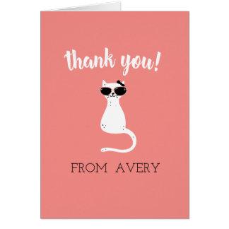 Kitten Me Thank You Card