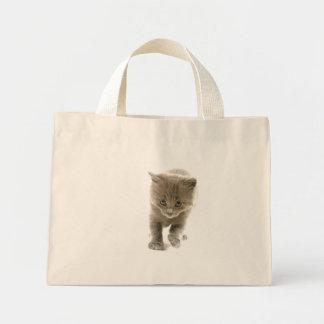 kitten mini tote bag