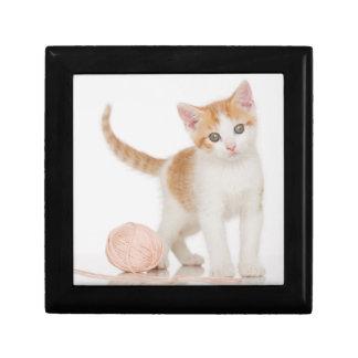 Kitten Next To Ball Of String Gift Box