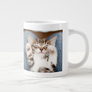 Kitten On My Lap Large Coffee Mug