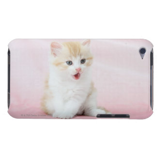 Kitten on Pink Background Barely There iPod Cover