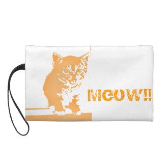 Kitten orange wristlet