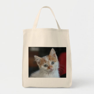 Kitten Organic Grocery Tote Grocery Tote Bag